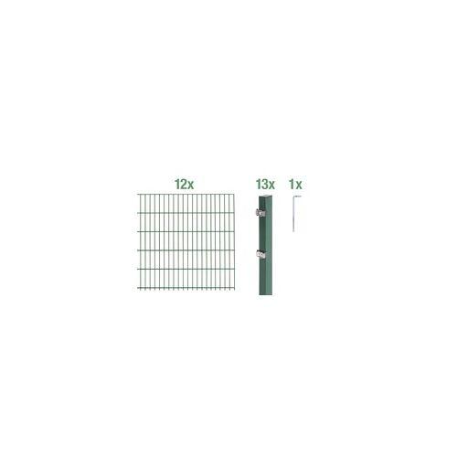 GAH Alberts Doppelstabmatten-Grundset 24 m 200 x 160 cm, Type: 6/5/6, grün