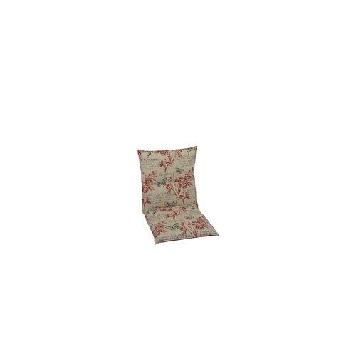 GO-DE Niederlehner-Auflage 100 x 50 x 8 cm, beige, rot, pink