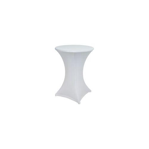 GO-DE Husse für Stehtisch 120 x 70/80 cm, weiß