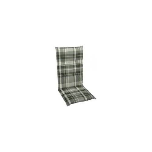 Go-De Sessel-Auflage hoch, grau-kariert, 120 x 50 x 6 cm