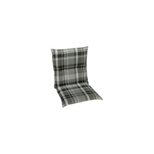 Go-De Sessel-Auflage nieder, grau-kariert, 100 x 50 x 6 cm