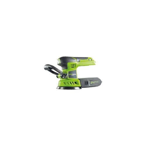 Greenworks Exzenterschleifer 24 V ohne Akku und Ladegerät, Drehzahl: 3.000-12.000 min-1