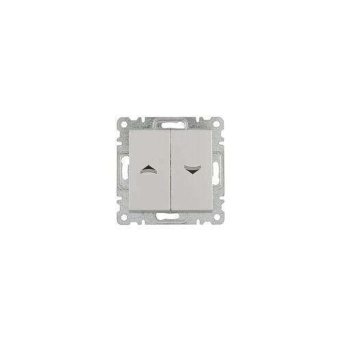 uniTEC Elektro Jalousie-Schalter Karea, silber