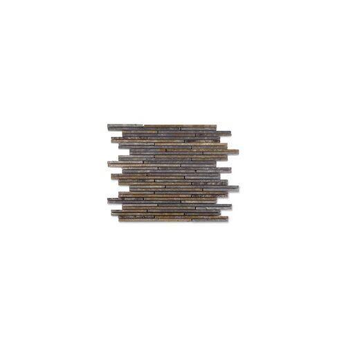 KNG Schiefermosaik Mini-Sticks 30 x 30 x 1 cm, multicolor
