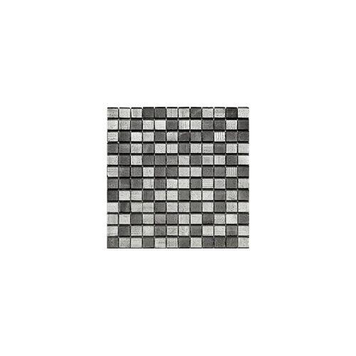 KNG Glasmosaik silverblack 29,8 x 29,8 x 0,8 cm, silverblack