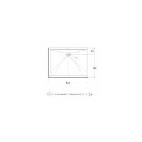 Ottofond Duschwanne Memphis 120 x 90 x 3,5 cm, weiß