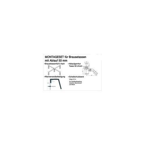 Ottofond Montage-Set für tiefe Duschwannen, Ablauf 50 mm