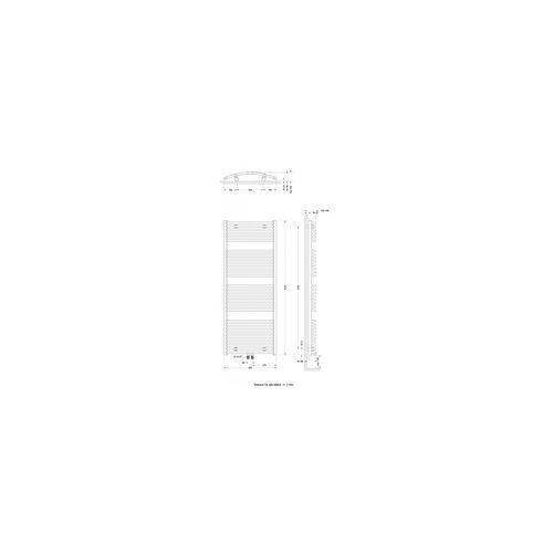 Schulte Badheizkörper Europa 153,5 x 60 cm, weiß, 823 Watt