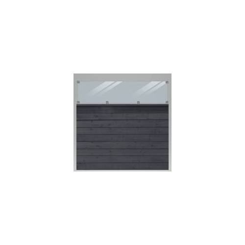 Plus Profilzaun Klink 174 x 163 cm, mit Glas