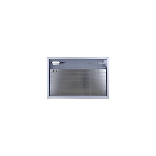Vigo Magnettafel Wochenplaner Metalloptik 60 x 40 cm