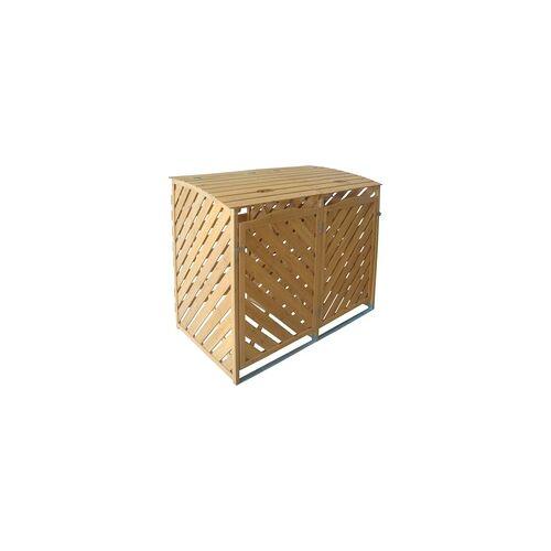 TrendLine Mülltonnenbox aus Holz für 2 x 240 l Mülltonnen