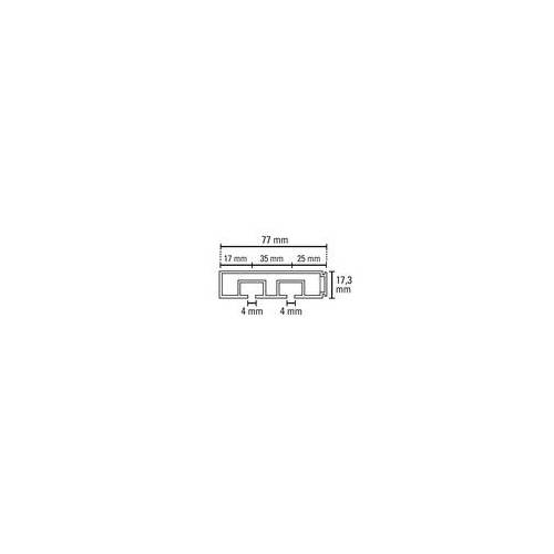 Gardinia Vorhangschiene GE 2-läufig, weiss, 300 cm