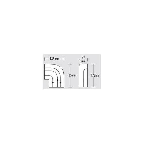 Gardinia Vorhangschiene GE 3-läufig, weiss, 250 cm