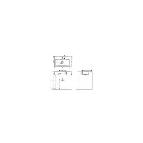 Primaster Waschtisch Solea 44,8 cm, weiß