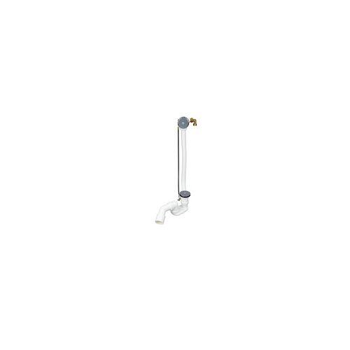 Ottofond Ab- und Überlaufgarnitur für Eckbadewannen, mit Excentergarnitur, mit Wassereinlauf