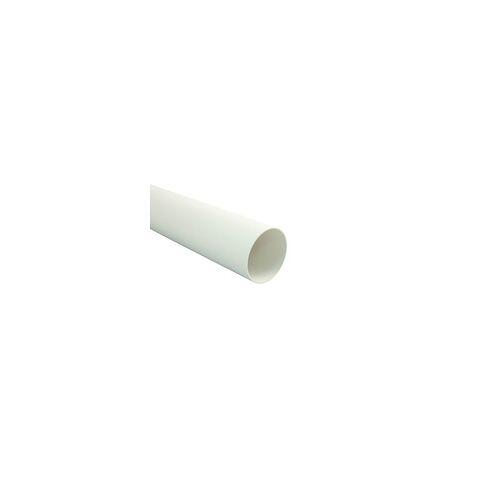 Marley Lüftungsrohr rund 1000 mm Länge, innen 125 mm Ø, weiß