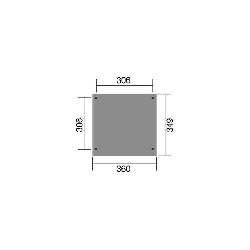 Weka Gartenlaube Fancy Gr. 2 Maße: 349 x 360 x 230 cm