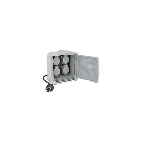 uniTEC Elektro Unitec Steckdosen-Verteiler Stein 4 Steckdosen, 1,5 m Zuleitung