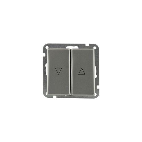 uniTEC Elektro Unitec Jalousie-Taster Imola S307 Edelstahl