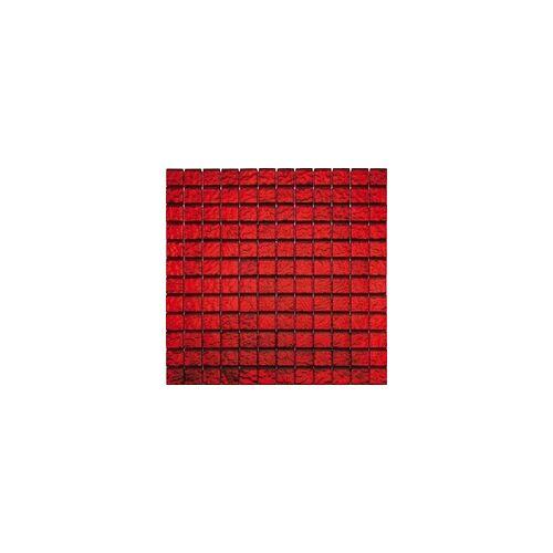 KNG Mosaikfliese Glas Flamenco 29,8 x 29,8 x 0,8 cm, rot