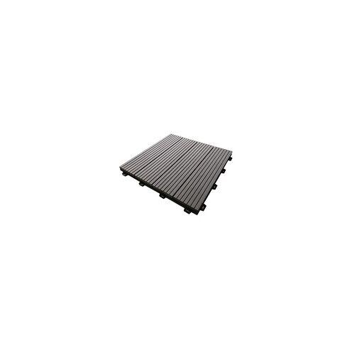 TrendLine WPC Fliese grau 300 x 300 mm (L x B), Stärke: 21 mm