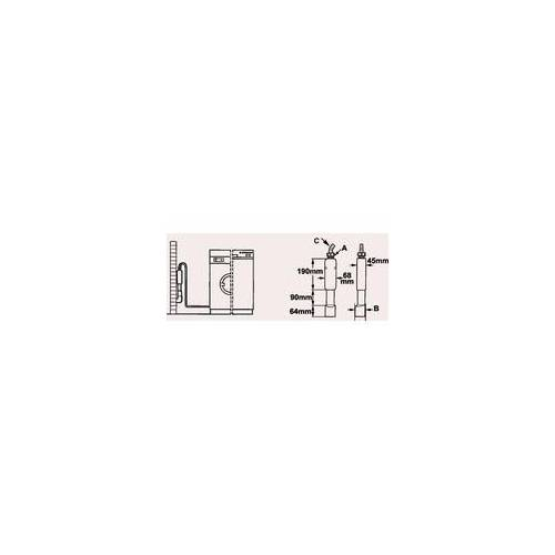 Cornat Aufputz-Waschgerätesiphon Ø 40/50 mm für Wasch- oder Spülmaschinen