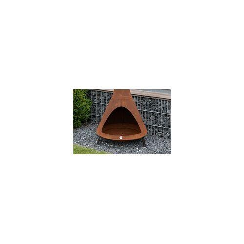 Westmann Feuerstelle inkl. Rauchablass Rost, 70x70x160 cm