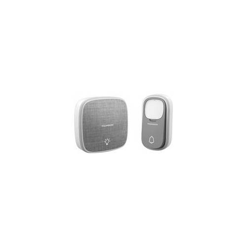 Avidsen Thomson Funk-Türklingel drahtlose Klingeltaste ohne Batterie grau
