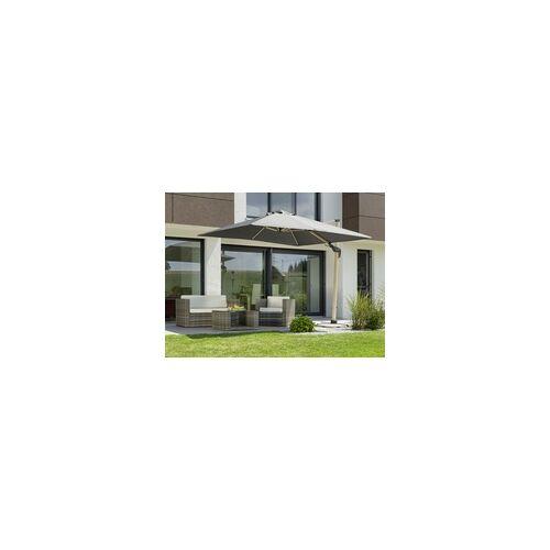 Schneider Schirme Schneider Sonnenschirm Schirm Rhodos Twist Woody anthrazit, 300 x 300 cm