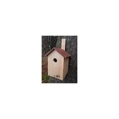 weitere Nistkasten natur mit Holzdach und Reinigungsklappe Einflugloch Ø 2,8 cm