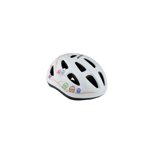 Fischer Fahrradhelm Eule Größe XS/S 48-54 cm, weiß