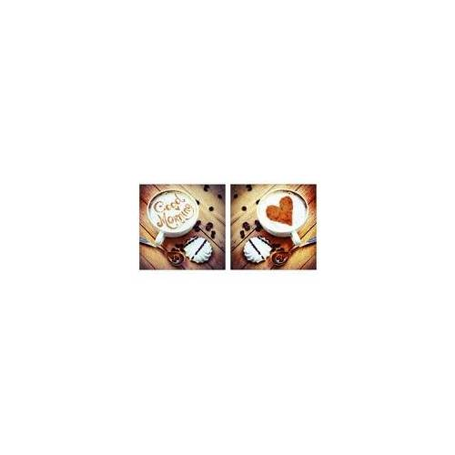 The Wall Deco-Glas Bild - Kaffee 2-er 2 x 20 x 20 cm