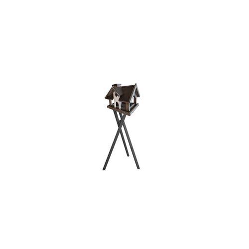 weitere Massives Vogelhaus mit 3-Bein Ständer und Futtersilo 34 x 33 x 34 cm