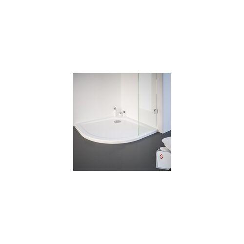 Schulte Garant Runddusche Set mit Duschwanne 90 900 x 900 x 2000 mm, Radius 550 mm, alunatur, Klar hell mit fixil-Beschichtung