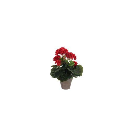 Mica decorations Mica Geranium in Topf rot, 34 x 20 cm