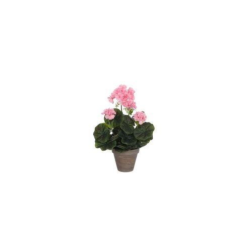 Mica decorations Mica Geranium in Topf rosa, 34 x 20 cm
