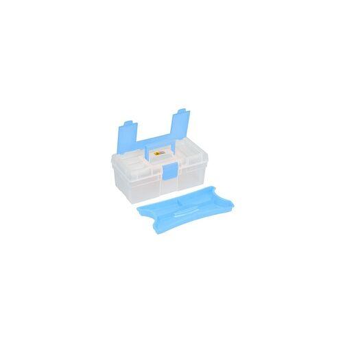 Allit Aufbewahrungskoffer McPlus Clear 12,5 blau , Maße: 310 x 170 x 130 mm