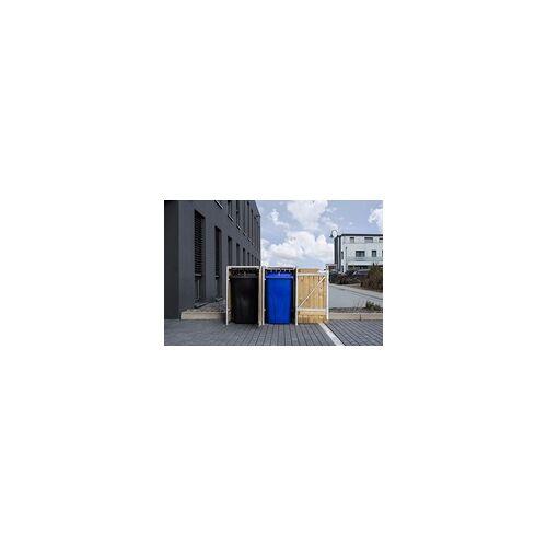 Hide Mülltonnenverkleidung, für 2 Mülltonnen 240l Volumen natur 80,7x139,4x115,2 cm