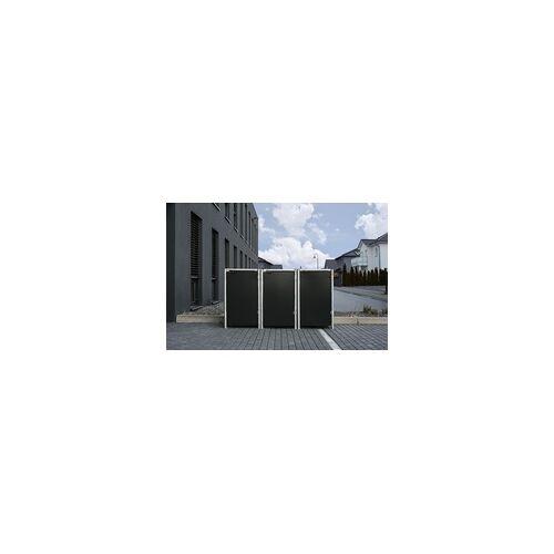 Hide Mülltonnenverkleidung; für 3 Mülltonnen 240 l Volumen, schwarz 80,7x209,1x115,2 cm