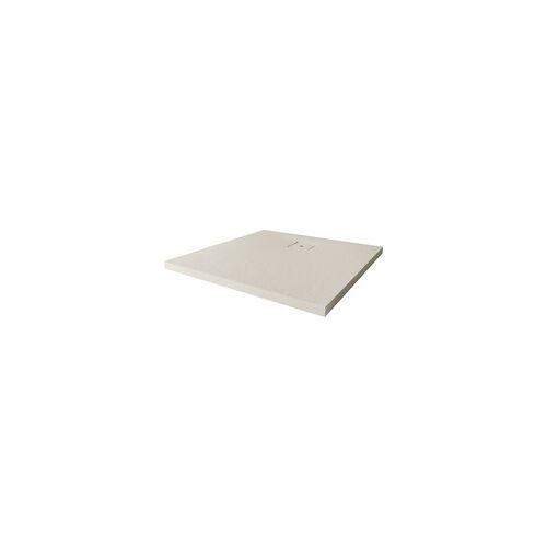Breuer Duschwanne Modern Line Quadrat, 90x90 cm, H:4 cm, Steinoptik Sandstein