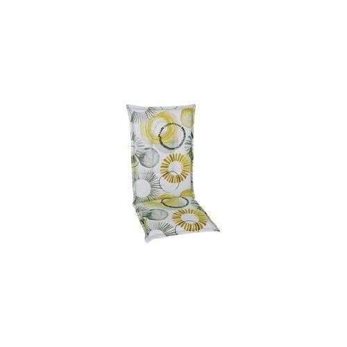 GO-DE Hochlehner-Auflage 120 cm x 50 cm x 6 cm, beige, gelb