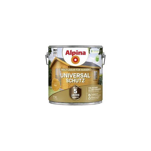 Alpina Holzlasur 4L teak Universal-Schutz