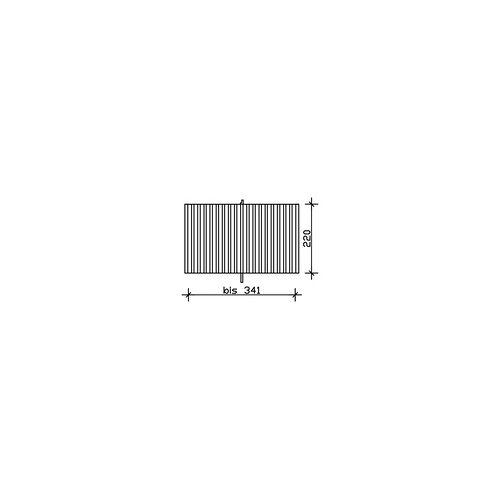 SKANHOLZ SKAN HOLZ Rückwand aus Deckelschalung 341 x 220 cm, weiß