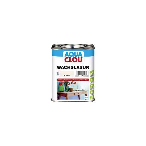 Aqua Clou Wachslasur 750 ml, weiß