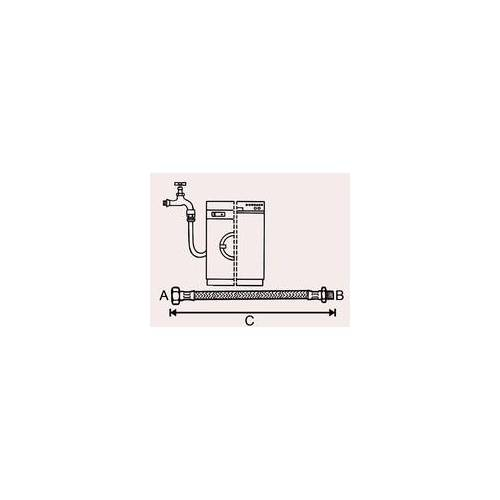 "Cornat Maschine-Zulauf-Verlängerungschlauch 2 m / 19,05 mm (19,05 mm (3/4) "")"""