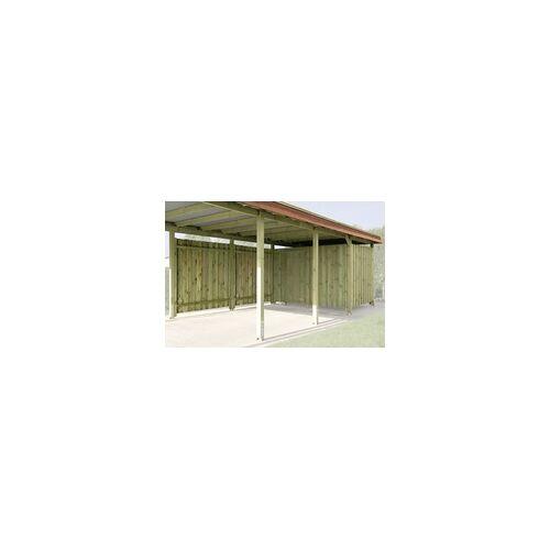 Weka Geräteraum für Carport Eifel Gr. 2+3 Breite 288 cm Tiefe 199 cm