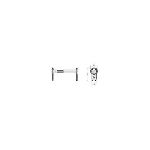 Basi Blindzylinder BZV 100 45-125 mm