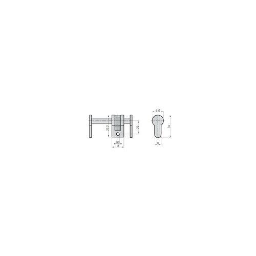 Basi Blindzylinder BZU 100 84-150 mm