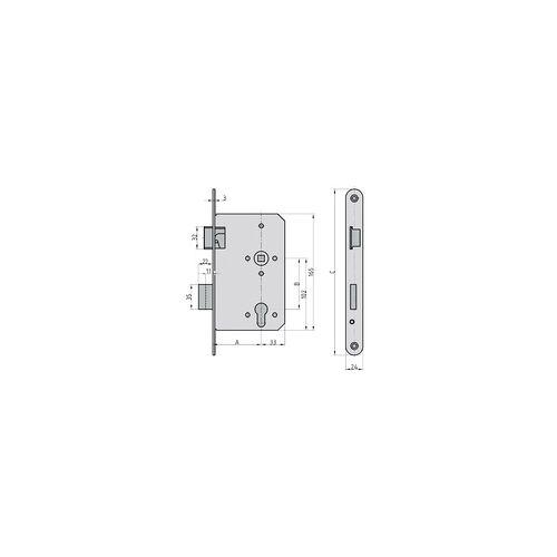 Basi Einsteckschloss Dornmaß 65 mm