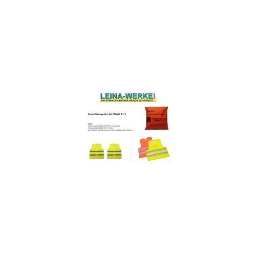 Leina-Werke Leina Warnwesten Set Family 2 + 2 2 Warnwesten DIN EN ISO 20471 + 2 Warnwesten DIN EN 1150